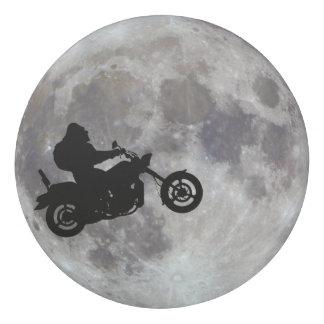 Big foot, big bike and a big bright moon eraser