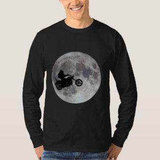 Big foot, big bike and a big bright moon T-Shirt