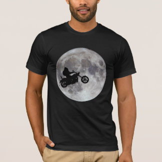 Big foot, big bike and big bright moon T-Shirt