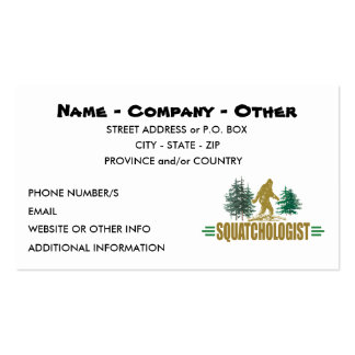 Big Foot Double-Sided Standard Business Cards (Pack Of 100)