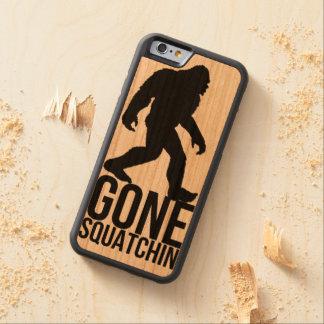 Big foot gone squatchin carved cherry iPhone 6 bumper case