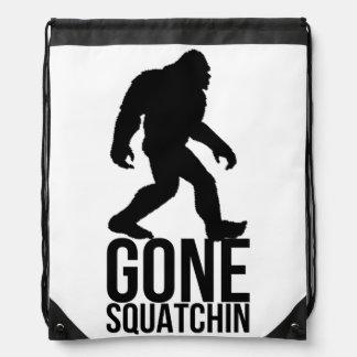 Big foot gone squatchin drawstring backpack