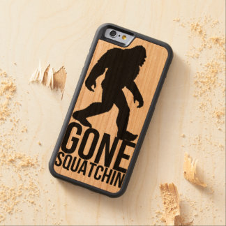 Big foot gone squatchin carved® cherry iPhone 6 bumper case