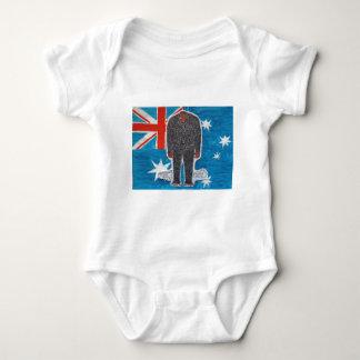 Big foot H, australia flag. Baby Bodysuit