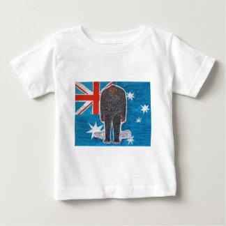 Big foot H, australia flag. Baby T-Shirt