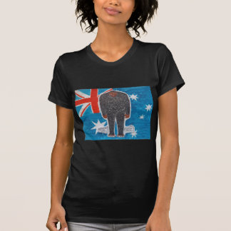 Big foot H, australia flag. T-Shirt
