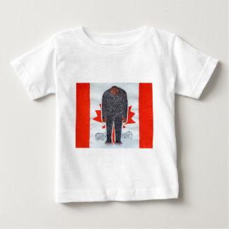 Big foot H, Canada flag. Baby T-Shirt
