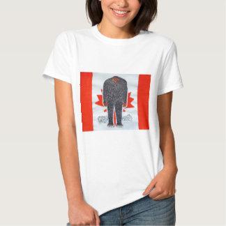 Big foot H, Canada flag. T-Shirt