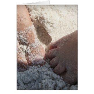 Big Foot Little Foot at the Beach Florida gulf Greeting Card