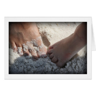 Big Foot Little Foot at the Beach Florida gulf Stationery Note Card