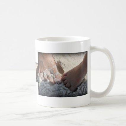 Big Foot Little Foot at the Beach Florida gulf Mugs