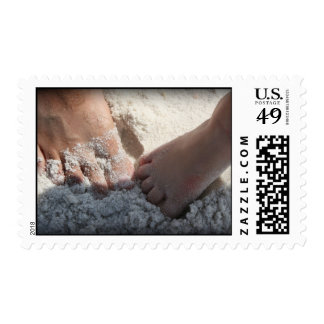 Big Foot Little Foot at the Beach Florida gulf Postage Stamp