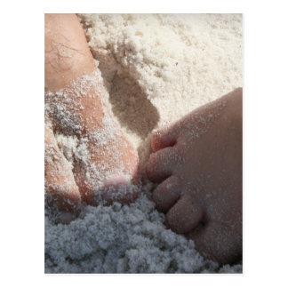 Big Foot Little Foot at the Beach Florida gulf Postcard