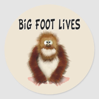 Big foot Lives Classic Round Sticker