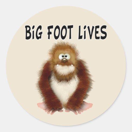 Big foot Lives Classic Round Sticker