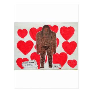 big foot love 2 postcard
