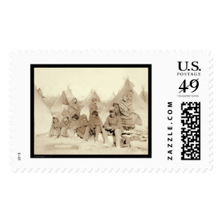 Big Foot Miniconjou Indian Camp SD 1891 Postage Stamps