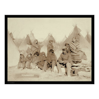 Big Foot Miniconjou Indian Camp SD 1891 Posters