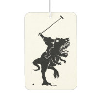 Big foot playing polo on a T-rex Air Freshener