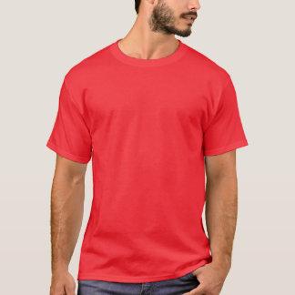 Big Foot Print Design Red Logo T-Shirt