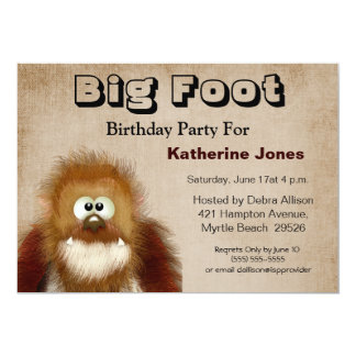 Big Foot/ Sasquatch Birthday Party Card