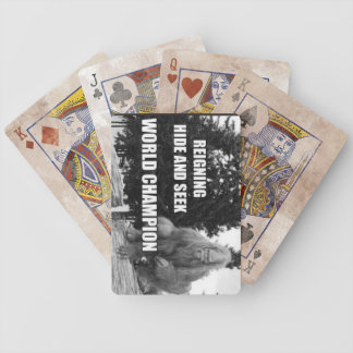 Big Foot , Sasquatch Hide and Seek Design Bicycle Playing Cards