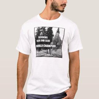 Big Foot , Sasquatch Hide and Seek Design T-Shirt