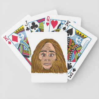 Big Foot Sketch Bicycle Playing Cards