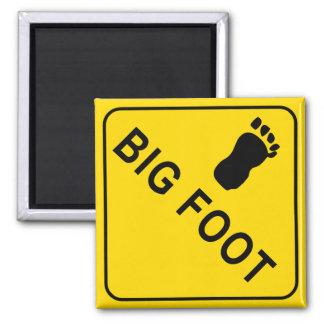Big Foot Square Magnet