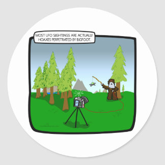 Big Foot: The King of All Hoaxes Classic Round Sticker