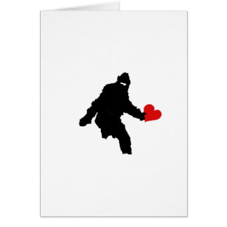 BIG FOOT VALENTINE CARD