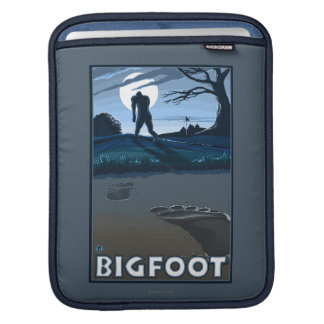Big Foot walking through Golf Course Sleeve For iPads