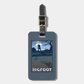 Big Foot walking through Golf Course Luggage Tag