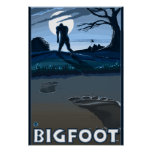 Big Foot walking through Golf Course Posters