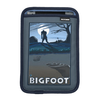 Big Foot walking through Golf Course Sleeve For iPad Mini