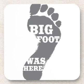 Big Foot Was Here - Humor Drink Coaster