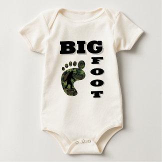 Big foot with foot logo baby bodysuit