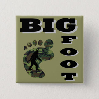 Big foot with foot logo button