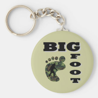 Big foot with foot logo key chains