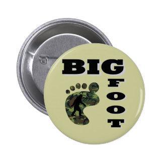 Big foot with foot logo pinback button