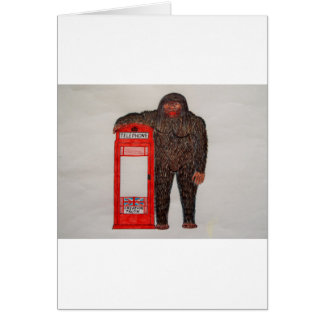 big foot with phonebox, card