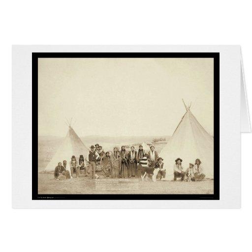 Big Foot's Indian Tipi Camp SD 1890 Greeting Card