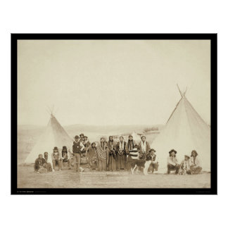 Big Foot's Indian Tipi Camp SD 1890 Posters