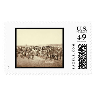Big Foot's Miniconjou Band at Grass Dance SD 1890 Stamp