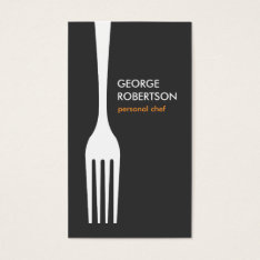 Big Fork Logo For Chef, Catering, Restaurant, Food Business Card at Zazzle