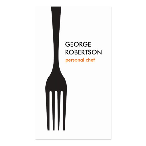 BIG FORK LOGO II for Chef, Catering, Restaurant Business Card Template