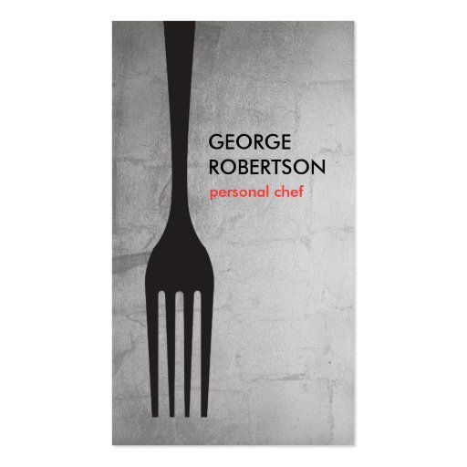 BIG FORK LOGO III for Chef, Catering, Restaurant Business Card
