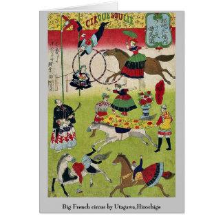 Big French circus by Utagawa Hiroshige Cards