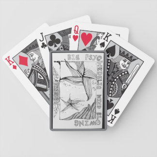 """""""Big Friend"""" Black & White Playing Cards"""
