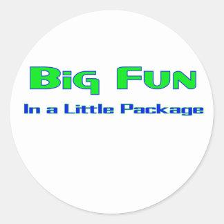 Big Fun in a little package Classic Round Sticker